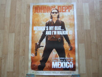 Johnny Depp once Upon A Time In Mexico Very Rare Promo Poster. Rodriguez